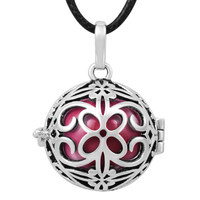 BH173A22 925 Silver Jewelry Baby Caller For Unborn Baby, Butterfly Cage Harmony Bola Ball Angel Caller Pendants
