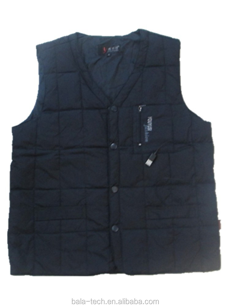 Factory Price Custom Made Battery Electric Heated Rechargeable Warm Winter Vest