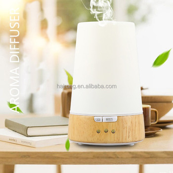 2017 Hairong bamboo wood aroma diffuser / air humidifier ultrasonic with LED light
