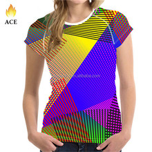 Wholesale custom made colorful popular t shirts , 3d sublimation printed t shirts