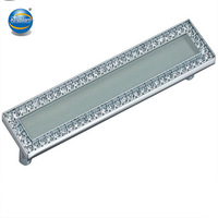 European Style Rhinestone Crystal Furniture Door Drawer Pull Handle Cabinet Pull Handle Kitchen Knobs