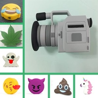 Factory cheap price wholesale cute video camera power bank, unicorn emoji power bank