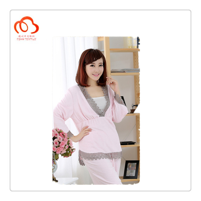 Girls sleeping pajamas suit two colors in stock