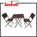 3-piece Outdoor Patio Resin Wicker Rattan Folding Bistro Set