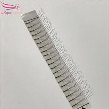 Wholesalse price 3D volume lashes long shoot pre made glue fans false lashes customized
