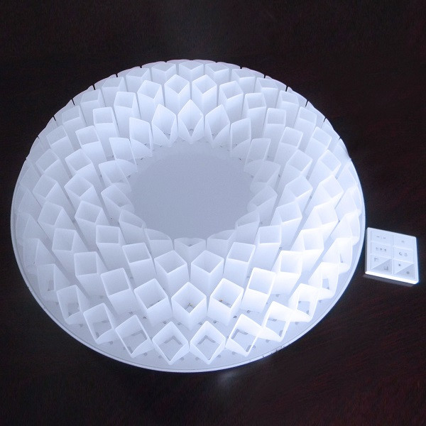 D400X152mm CCT and brightness Double dimmable Lotus Shape LED ceiling lights