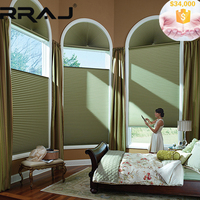 RRAJ Arch Window Cover Honeycomb Blinds