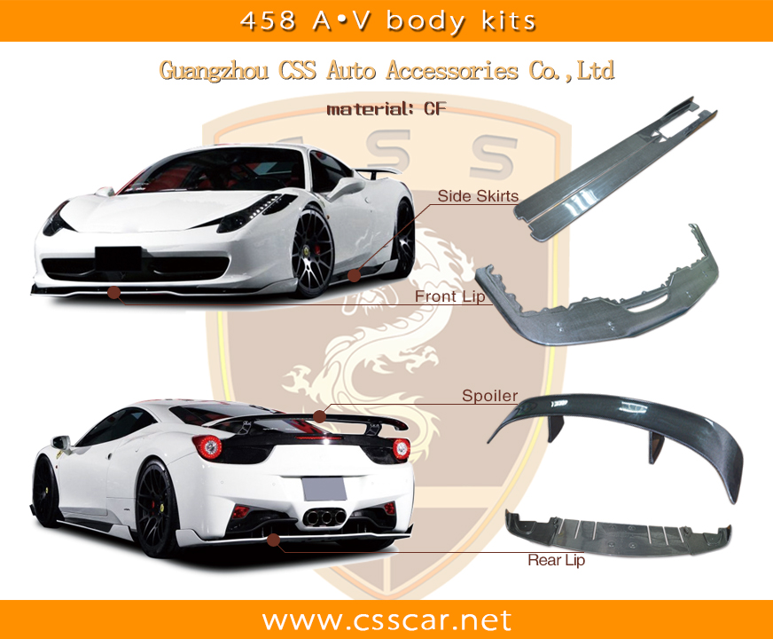 High quality carbon fiber for ferrari kits body kits