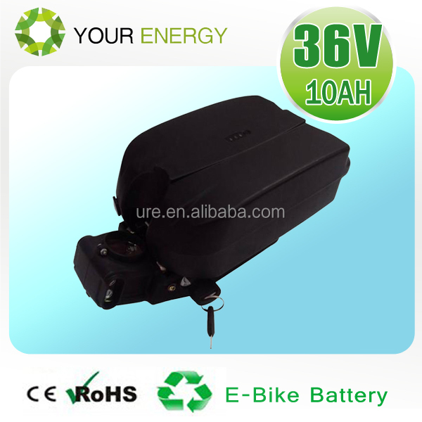 less self discharge rate 36v frog battery e-bike lithium ion 36v battery 10ah