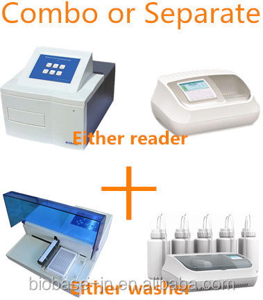 combo: Elisa Microplate reader and Elisa Mircowasher appliable Bio-Rad ELISA kit