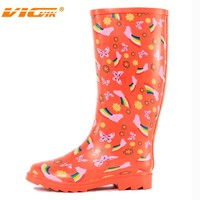 women wears summer boots, rubber boots factory