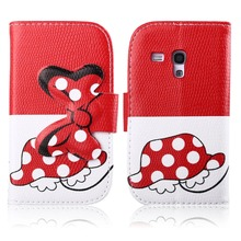 For Samsung Galaxy S DUOS GT-S7562 leather mobile phone stand wallet cases bowknot cell phone flip cover with card holder