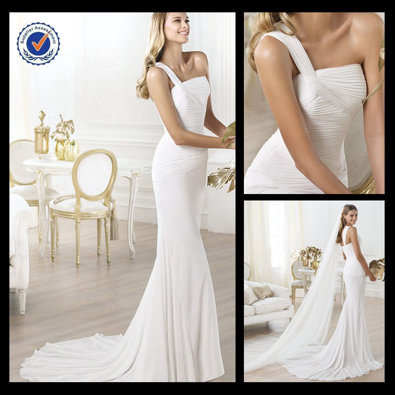 Sh0087 Wedding dress 2014 vestido de noiva simple plain vintage western wedding dresses