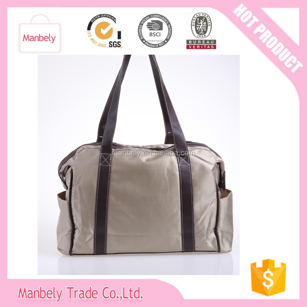"""The stripes printed canvas mummy bag """