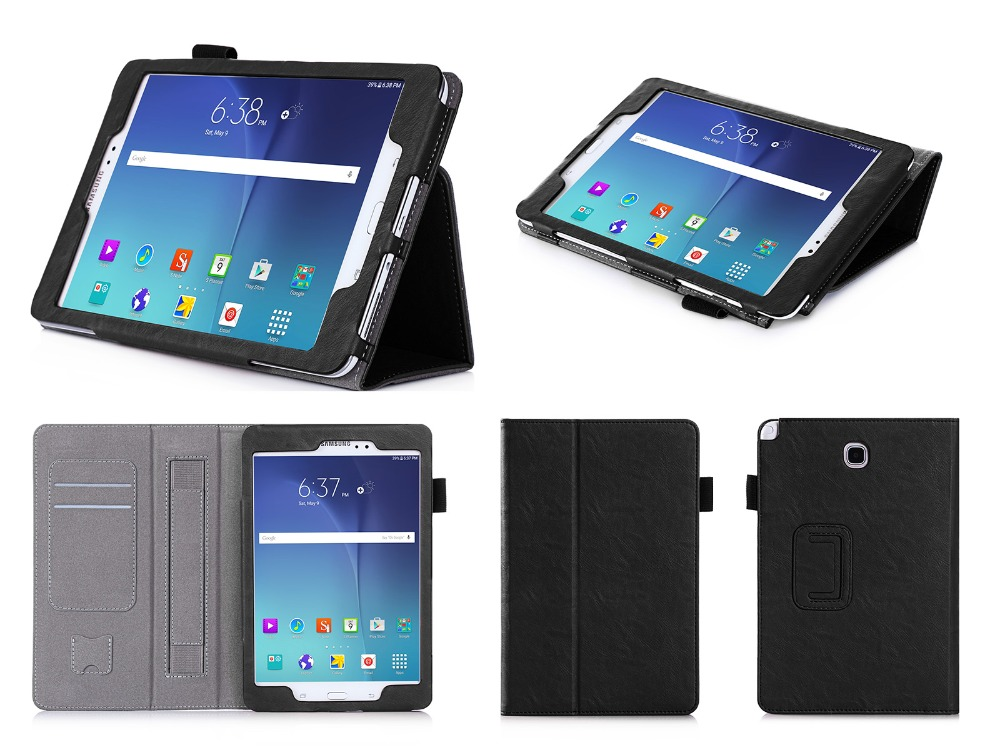 Factory Directly Sell Premium Card Slots With Daul-Way Standing PU Tablet Case For Samsung Tab A SM-T350 8inch