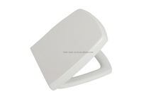 Soft close duroplast metal hinge rectangular toilet seat for one piece water closet