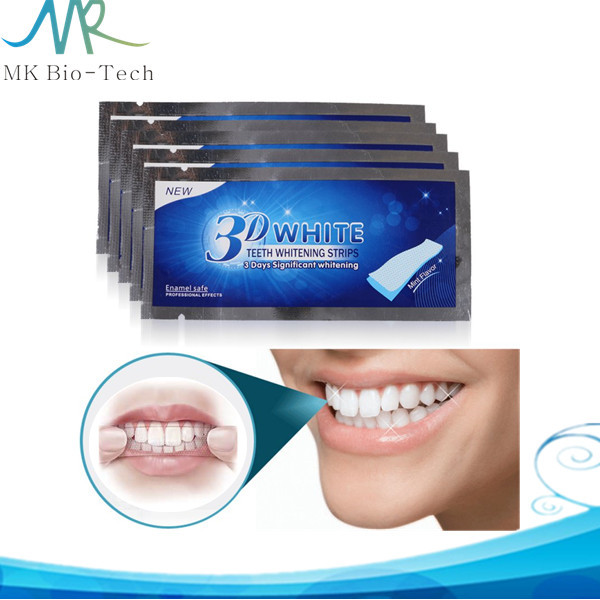 Oral hygiene whiten teeth strips 3d pearly white for home