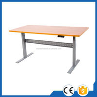 Factory Simple Design Hand Crank Adjustable Office Table