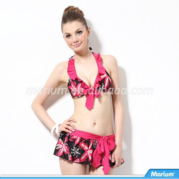 Sexy Teen Girl Hot Set Image In 3 Piece Women Swimwear Bikini
