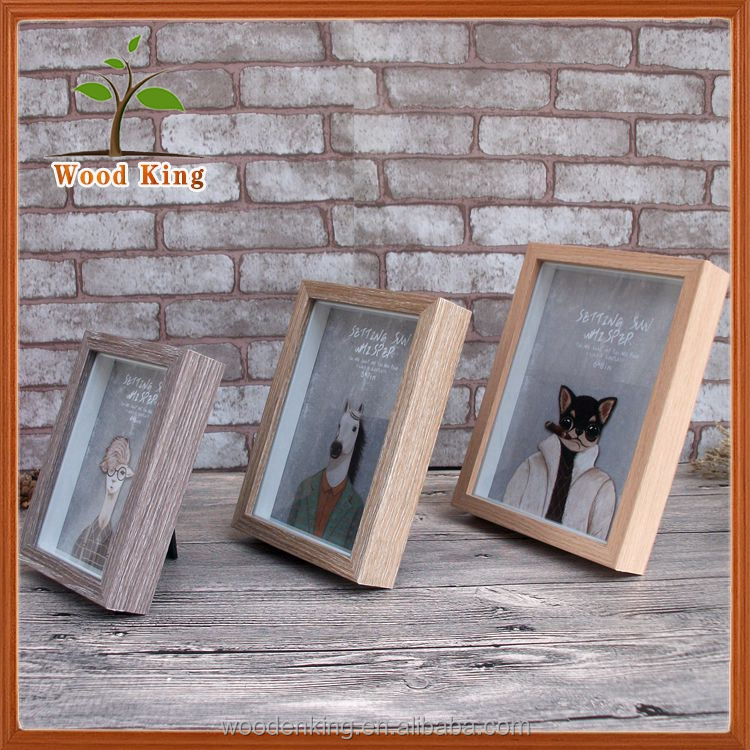 Creative Household Decorations School-Days Wooden Sixy Girl Photo Frame