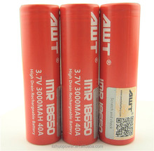 Newest ni-mh battery cell b40h AWT 3000mah red color 40A 18650 IMR INR 1865 battery for battery cells 18v dewalt