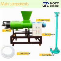 Good quality automatic poultry waste dewatering machine/chicken manure dryer/cow dung dewatering