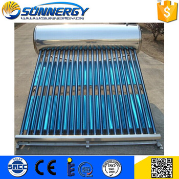 Non pressure compact stainless solar water heater 200 liter