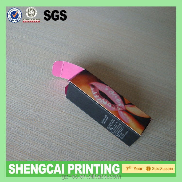 Lip stick/lip balm paper boxes packaging