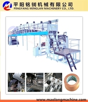 New design hot melt spray laminating coating machine with CE certificate