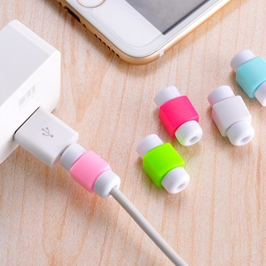 Mini Cute Silicone Cable Earphone Protector Plastic Cord Protection Wire Cover winder