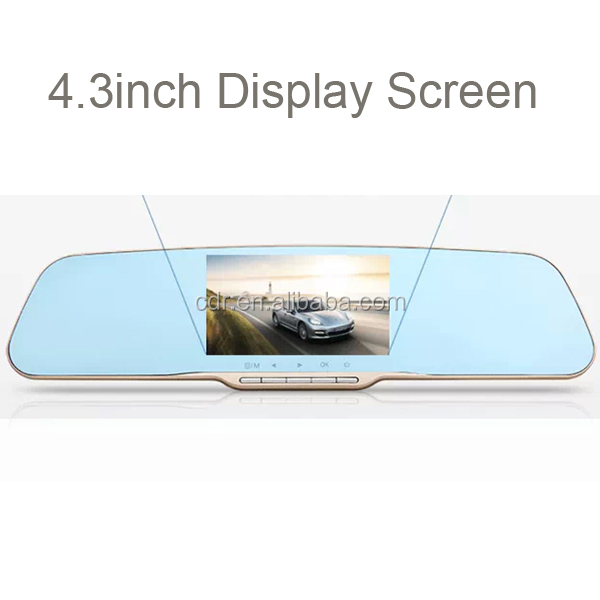 NTK96220 1080P Motion Detection 162 Degeree View Angle 4.3inch HD Rearview Mirror Car DVR Camera K10