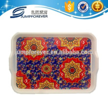 Custom large shallow Plastic serving tray plastic tray with dividers hard plastic tray with hole