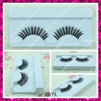 New fashion human hair hand made lashes red cherry false eyelashes