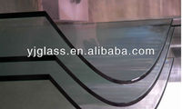 10mm curved skylight tempered laminated glass