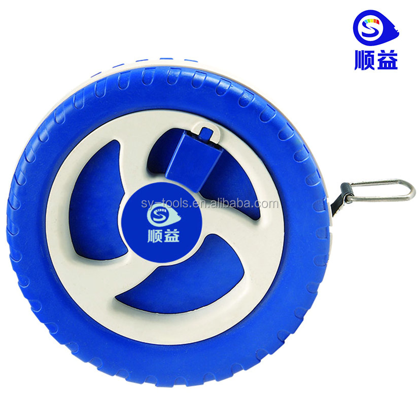 Plastic Round Tire Shape Garment Measuring Tape 1.5 meters Soft Tailor Body Scale Good Promotion Tape Measure