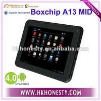 Hot Tablet 7 inch Android 4 1.5GHz Boxchip A13