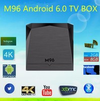 2016 M96 Android 6.0 TV Box 2G/8G s905x quad-core WIFI Bluetooth 3D IPTV Kodi XBMC DLNA Airplay 4K Media
