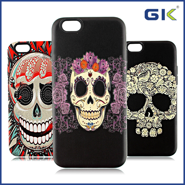 [GGIT] Cool Skull Pattern 2 in 1 TPU+PC Cover Case For IPhone 6