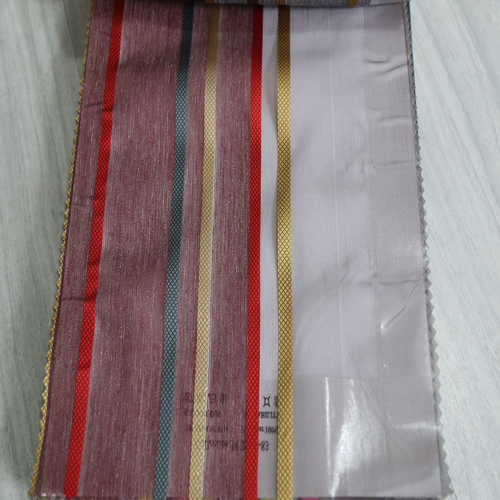 Wholesale Arab 100% polyester stripe sheer curtain fabric matching walmart bedspread