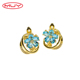 New Style Sea Blue Stylish Women Jewelry Flower Earrings