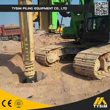 Super soil boring machine! mini hydraulic rotary drilling rig KR125A!