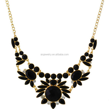 AIU new arrived lucky statement stone sweater necklace