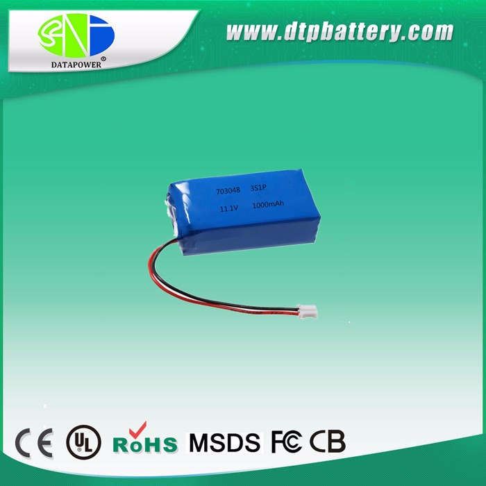 DTP905570 3S1P 11.1V 4000mAh Li po battery pack