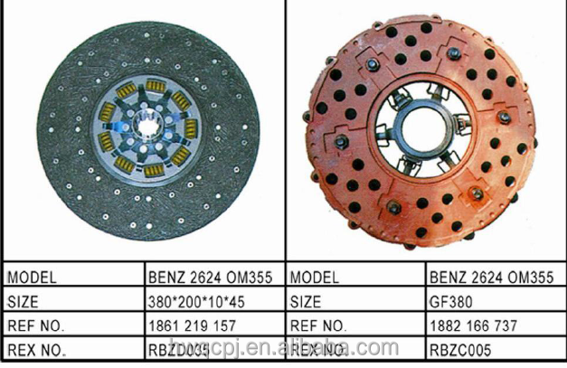 Good quality truck driven disc,clutch disc 2624 OM355