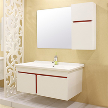 Australia Simple White and Red Wall Hung Vanity Units for Bathroom Cabinet
