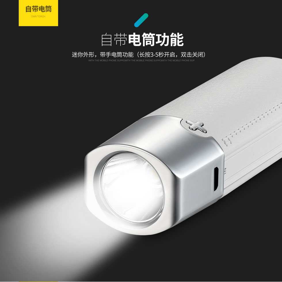 TOTU Mini Portable  Power Bank LED Display Mobile Phone Power Provider LED Flashlight Ultra Slim Power Bank