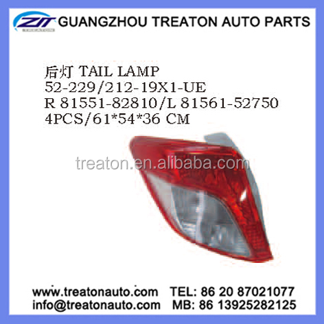 TAIL LAMP 81551-82810 81561-52750 FOR TOYOTA YARIS VITZ 14 2D