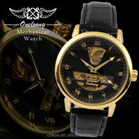 Men's Mechanical Watches Skeleton Hand-Wind Up Leather Strap Watches Luxury Brand Discount automatic Dropship luxury watch