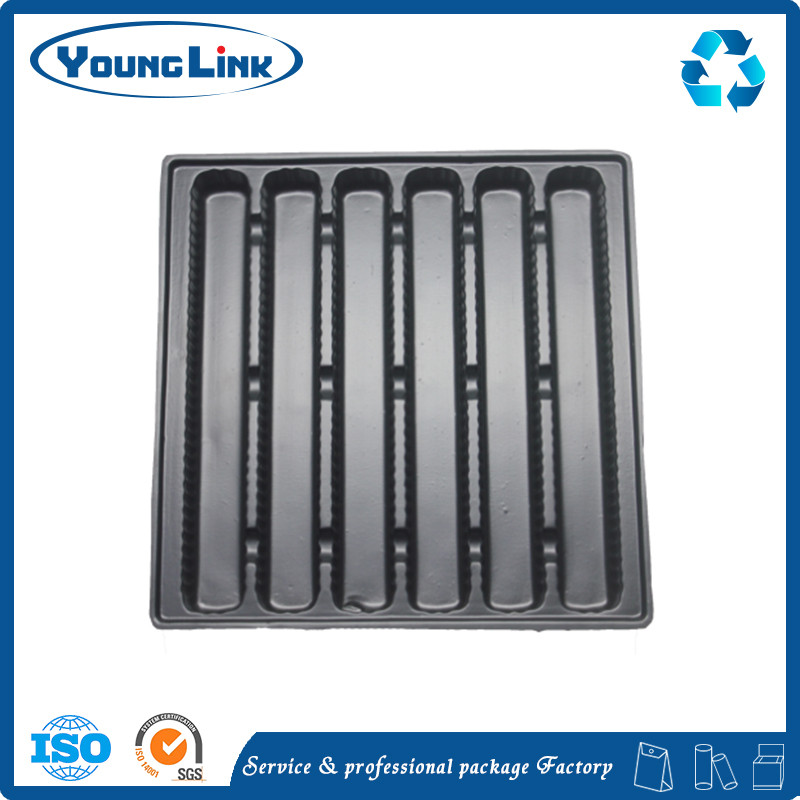 Offset printing disposable plastic divided lunch tray