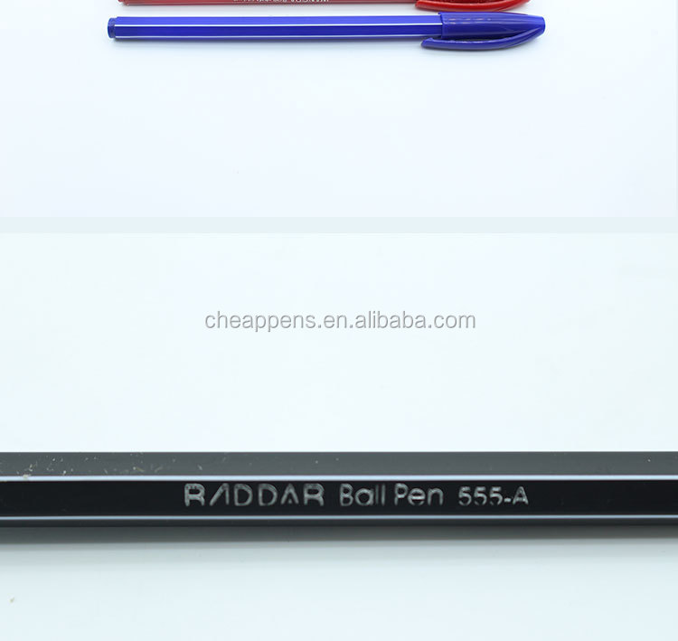 the cheapest plastic ballpoint pen for promotion in office 555